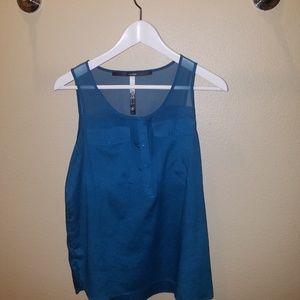 Super cute blue work-blouse